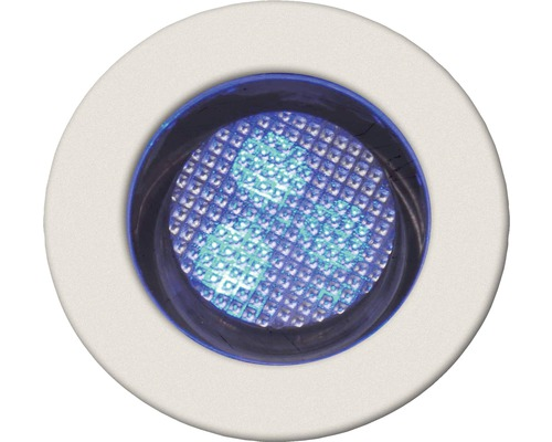 BRILLIANT Inbyggnadsspots LED IP44 10-pack 10x0,05W Cosa vit/blå Ø 30/22 mm