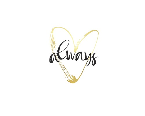 Poster Always Gold 30x40 cm