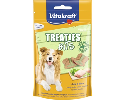 VITAKRAFT Treaties Bits Kalkon och Mint, 120g