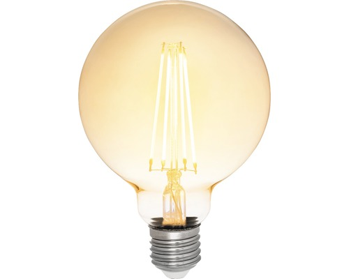 AIRAM LED-globlampa Antique 95mm 380lm E27 dimbar amber