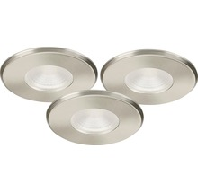 MALMBERGS LED-downlightset MD-316 3 st 11,5W 230V satin IP44 dimbar