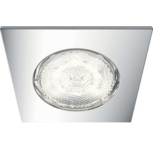 PHILIPS myBathroom downlight DREAMINESS fyrkantig 4,5W 230V 500lm krom IP65