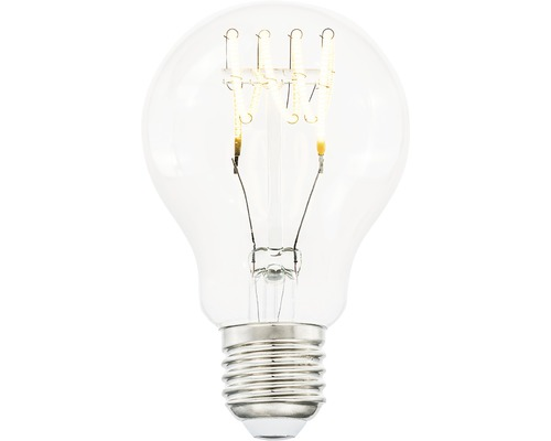 COTTEX LED-lampa Curly filament klar E27, 4W 300lm stepdim