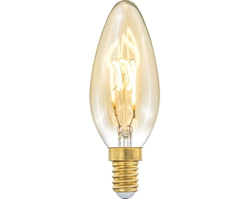COTTEX LED-lampa Curly filament amber kron E14, 4W 150lm stepdim