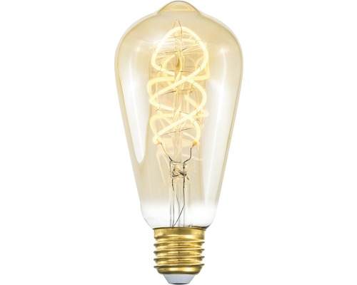 COTTEX LED-lampa Curly filament amber edison E27, 4W 250lm stepdim
