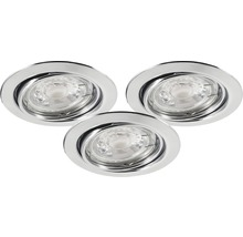 MALMBERGS Downlight MD-235 3-pack 3x3W krom IP 21, 9974582