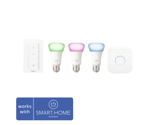 PHILIPS Hue White and color ambiance startpaket E27