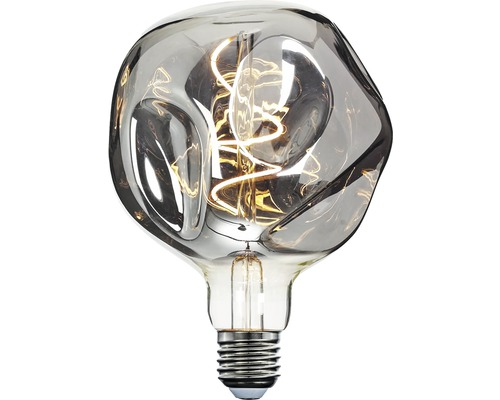 LED-lampa COTTEX Curly filament organic smoke glob E27 4W 90lm stepdim