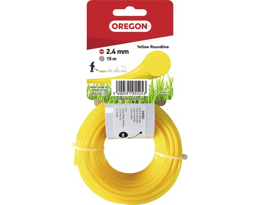 Trimmertråd OREGON Yellow Roundline 2,4mm 15m