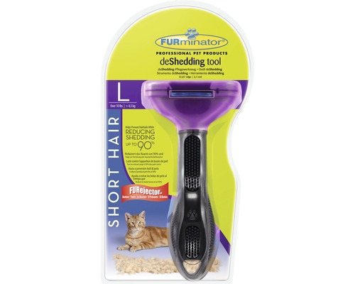 FURminator Cat Tool Short Hair L, svart-lila