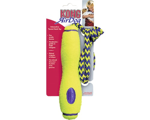KONG Hundleksak Air Fetch Stick 20cm gul