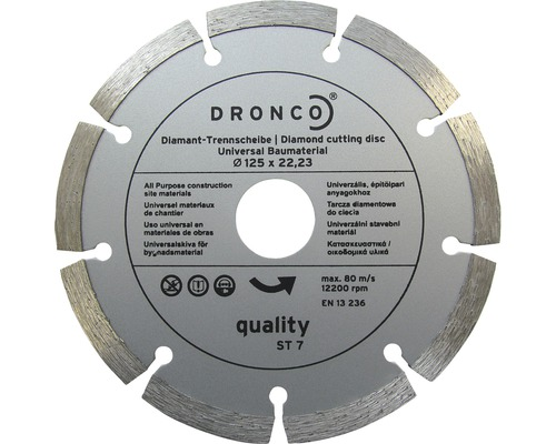 DRONCO Diamantkapskiva Quality ST-7, Ø 125x22,23 mm