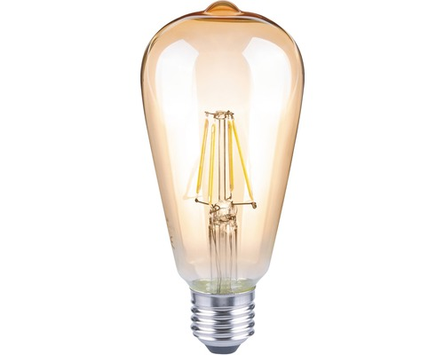 FLAIR LED-lampa ST64 Filament amber E27/4W(35W) 400 lm 2000 K varmvit