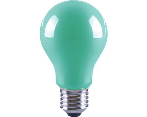 FLAIR LED-lampa A60 Filament grön E27/4W