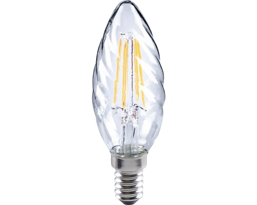 FLAIR LED kronljus CT 35 snurrad Filament klar E14/4W(35W) 420 lm 2700 K varmvit