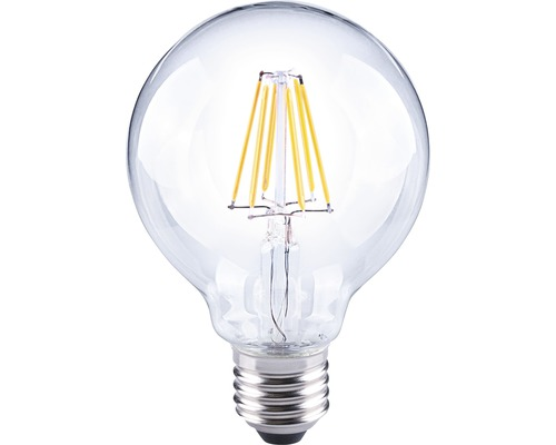 FLAIR LED klotlampa G80 Filament klar E27/6W(60W) 810 lm 2700 K varmvit