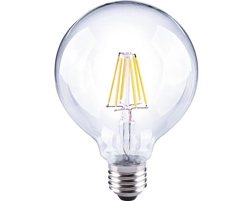 FLAIR LED klotlampa G95 Filament klar E27/6W(60W) 810 lm 2700 K varmvit