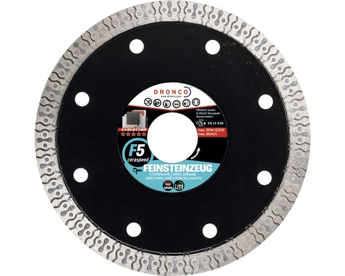 DRONCO Diamantkapskiva Evolution F5 cera speed, Ø 115x22,23 mm