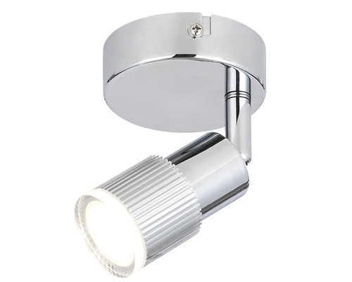 FLAIR LED spotlight Alamak krom med 1 ljuskälla, 380 lm 3000 K varmvit L 100 mm